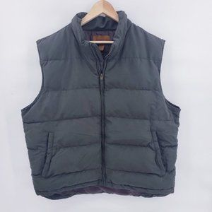 St Johns Bay Mens Poly Fill Puffer Vest Army Green